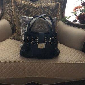Jimmy chop black authentic leather bag